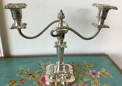 Beautiful Antique/vintage Silver Plated Candelabra Made In England
