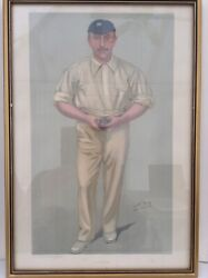 Vanity Fair And039spyand039 Cricketer Print F.s.jackson A Flannelled Fighter Aug 1902