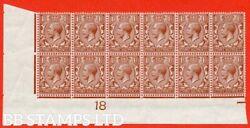 Sg. 362. N18 1. 1andfrac12d Red - Brown. A Lightly Mounted Mint Control 18 O B43895