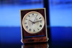 Rare Genuine Jaeger-lecoultre Memovox Date Alarm Stand Clock From 1960s/70s
