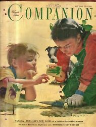 1949 Womans Home Companion May - Boston Terrier; Will polio hit you this year?