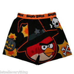 NEW ANGRY BIRDS WIZARD WITCH SKULL HALLOWEEN Boxer Shorts Underwear Men S 28 30