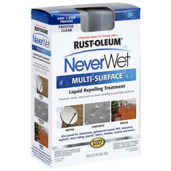 Rust-oleum Neverwet 18 Oz Multi Surface/liquid Repellent Frosted Clear Spray Kit