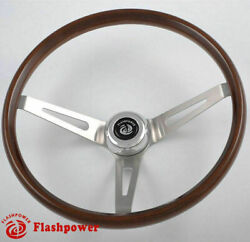 15 Walnut Wood Classic Steering Wheel Ford Falcon Comet Mustang 3 Bolt