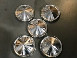 5pc Vintage Ford Dog Dish Hubcaps 10 Inches