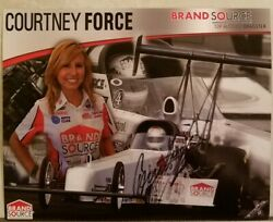 Signed 2008 Courtney Force Brand Source Top Alcohol Dragster Fast Shipping