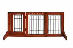 Simply Plus Wooden Pet Gate Freestanding Pet Dog Gate For Indoor Home  Office