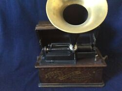 Antique 1903 Phonograph Home Edison W /horn 14andrdquo