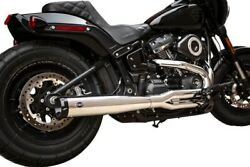 Sands 550-0790 Chrome Black Tips Race Only Superstreet 2-in-1 Exhaust M8 Fat Bob