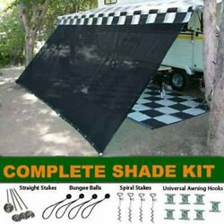 Rv Camper Trailer Awning Sun Shade Complete Kit Patio Privacy Screen 10and039/16and039/18and039