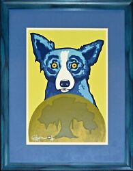 George Rodrigue Blue Dog Take Me To Your Leader Silkscreen Print Signed Artwork