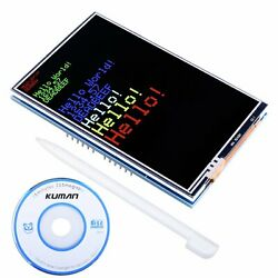 Kuman Arduino Uno R3 3.5 Inch Tft Touch Screen With Sd Card Socket W/tutorials I