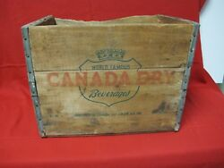 Vintage Canada Dry Ginger Ale D11 F-10-53 Wooden Crate Bottle Box 1953
