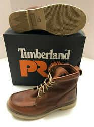 Nib Mens Timberland Pro Ignition 6 Inch Soft Toe Brown Leather Work Boots 12