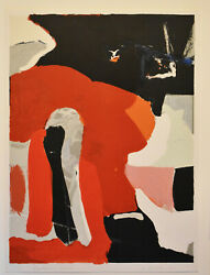 Listed American Artist James Brooks Original Abstract Color Lithograph Signed