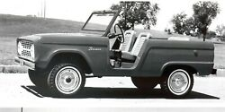 1966 Ford Bronco Poster 24 X 36 Inch Nice