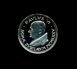 Vintage 1975 Pope Paul Vi .3 Ounce .925 Sterling Silver Proof Medal Cameo Strike