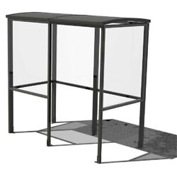 NEW! 4-Sided Smoking Shelter BLK-Half Side Panels-7'W x 3'6