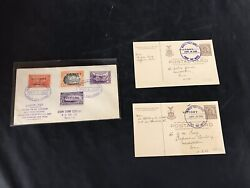 United States World War 2 Victory Post Cards With Stamps 1945 Lot Of 3