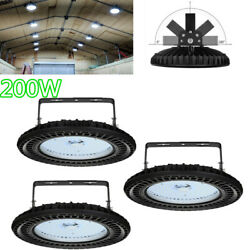 3X Cool White 200W UFO LED High Bay Light Warehouse Factory Fixtures Mall Market