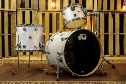 Dw Collectorand039s Series Drum Set White Twisted Oyster Finish Ply So 810951