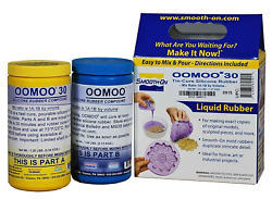 Oomoo 30 Silicone Mold Making Rubber 2 Pint Kit Mold Maker Arts Crafts