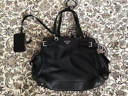 Authentic prada Bag In Great Condition Black Soft Leather $389.00