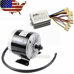 24v 350w Brush Electric Motor + Speed Controller Box For Electric Scooter Gokart