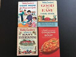 Lot Betty Crocker 1st Edition Cookbooks Boys And Girls, Good And Easy, Entertaining
