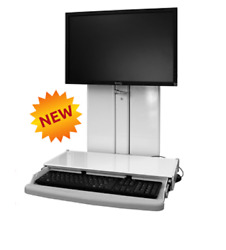 Healthcare/dental Office–vt21 Low-profile Sit-stand Workstation+keyboardtray-icw