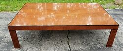 Vintage Chic Modernist Willy Rizzo Burl Wood Coffee Table 1970s Nice