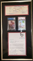 Frank Robinson Autographed 1957 Rookie 1969 Topps Baseball Card Contract Check