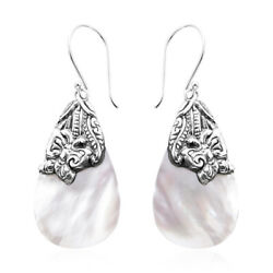 Dangle Drop Earrings 925 Sterling Silver Pear Mother of Pearl Jewelry for Women