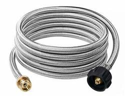 Propane Hose Gas Adapter 1 - 20 Lb Converter 5 / 12 Ft Qcc1 Type 1 Replacement