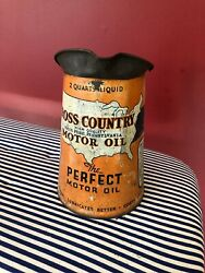"""Sears """"cross Country Motor Oil"""" Pitcher 2 Quart"""