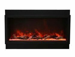Panorama Series 40 Deep Built-in Electric Fireplace W/ Surround