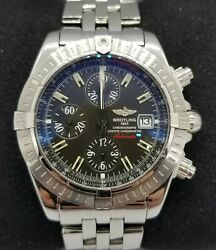 Breitling Chronomat A13356 Gun Metal Gray Dial Stainless Steel Automatic 44mm