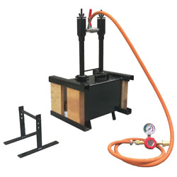 Blacksmith 2 Burner Front And Back Brick Door Rectangle Gas Propane Forge W Stand