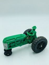 Antique Vtg Hubley Kiddie Toy Green Tractor Farm And Farmer Driving 50's 60's Toy