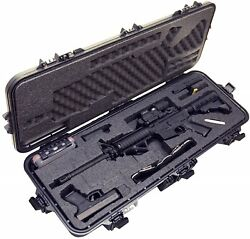 Pre-Made A R 1 5 Waterproof Rifle Case with Silica Gel & Accessory Box