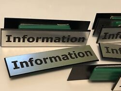 Magnetic Information Name Tags Magnetic Back Fastener Engraved Tags 13 Total