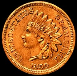 1859 Indian Head Cent Snow-1 Top 100 Rpd And Ddo Highly Collectible Unc Ih268