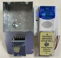 Ada Room Door Annunciator Kit W/strobe And Audible Includes Pwr Supply And Box
