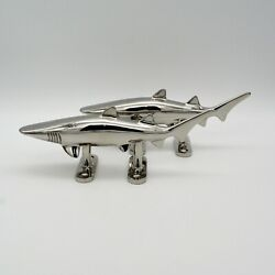 Shark Boat Dock Nautical Cleat Fish Marine 316 Stainless Fathers Day Gift Qty 2
