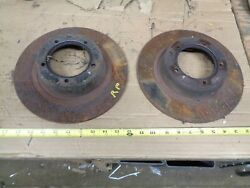 1970 Saab 96 V4 Left And Right Front Rotors 1969 1968 1971 Oem