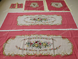 Hand Crafted Sofa Chair Upholstery Cover Sets Royal Rococo Victorian Rose Pink