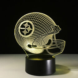Pittsburgh Steelers Collectible Light Lamp Home Decor Gift Ben Roethlisberger