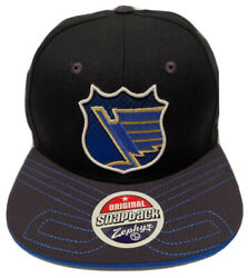 Zephyr Nhl St. Louis Blues Stitches Flat Bill Snapback Hat Brand New With Tags