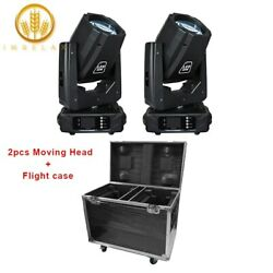 Imrelax 2pc New Powerful 80w Led Beam Moving Head Light With Flight Case Package
