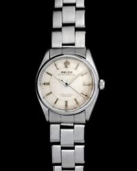 Vintage Rolex Oyster Perpetual 6564 with Sector Dial on Steel Oyster Bracelet